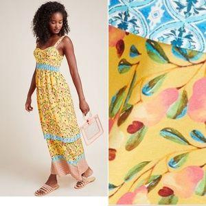 NEW Farm Rio for Anthropologie Anjou Maxi Dress